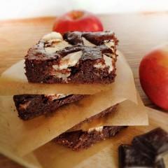 Brownie jabłkowe bez mąki