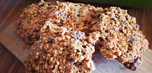 Cukiniowe ciasteczka owsiane
